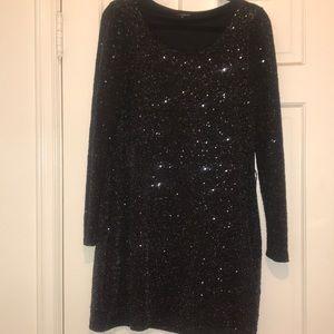 Express Black Glitter Dress